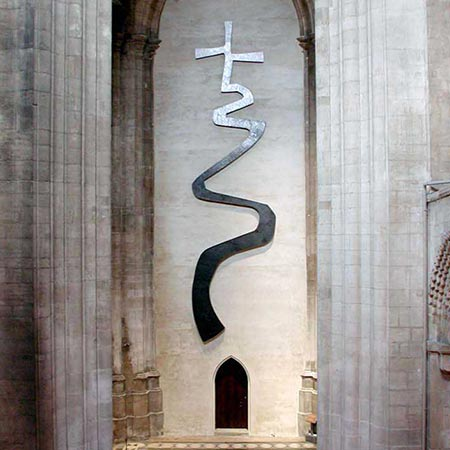The Way of Life, Ely Cathedral 2000 Aluminium 11m