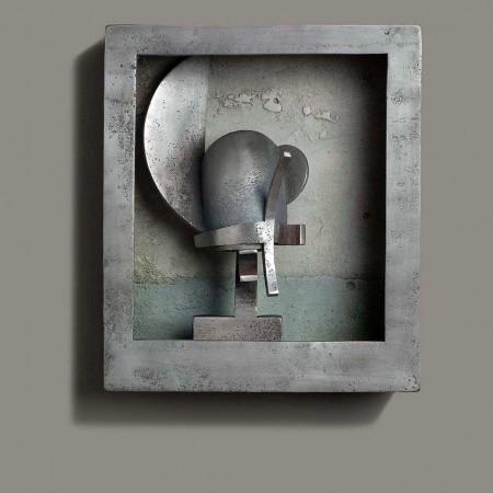 Venitian Head (King) 2004 Aluminium 50cm