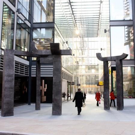 Gateway, New Fetter Lane, London 2011/14 Aluminium 4.5m