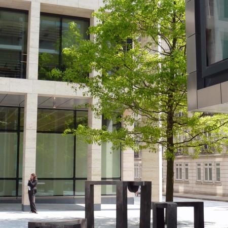 Browsers, New Street Square, London 2008 Aluminium 1.2 x 2.0m