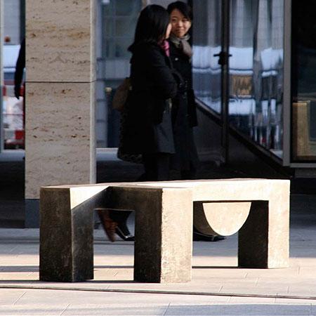 Browsers, New Street Square, London (Detail) 2008 Aluminium 1.2 x 2.0m