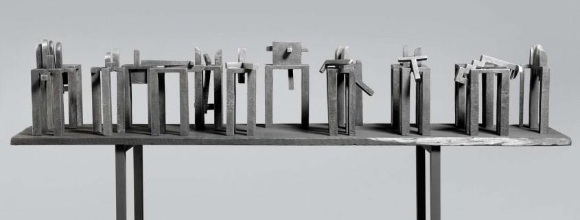 Ports of Call (Maquette) 2005/6 Aluminium 1.5m x 1.8m