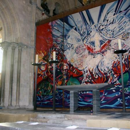 Candlesticks & Crosses, Chichester Cathedral 2010/11 Aluminium 3.0m